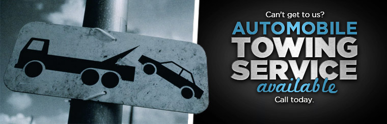 Can't get to us? Automobile towing service is available! Call today.