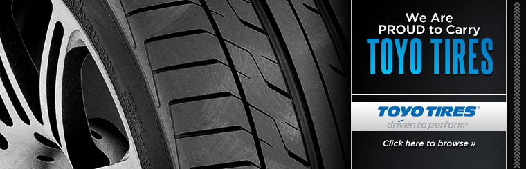 We are proud to carry Toyo tires!