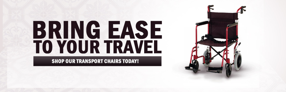 Bring ease to your travel! Click here to shop transport chairs.