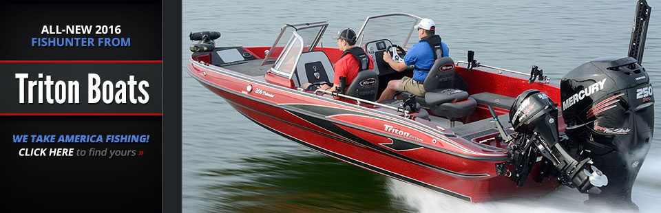All-New 2016 Fishunter from Triton Boats: Click here to view the models.