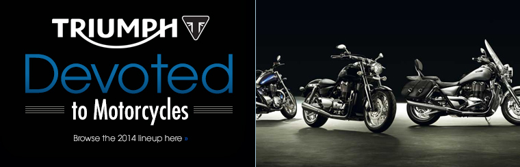 View the 2014 Triumph motorcycles.