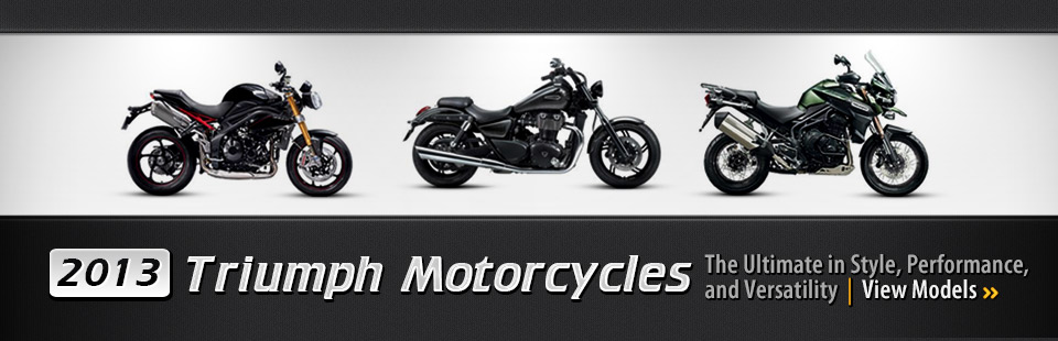 Click here to view the 2013 Triumph motorcycles.