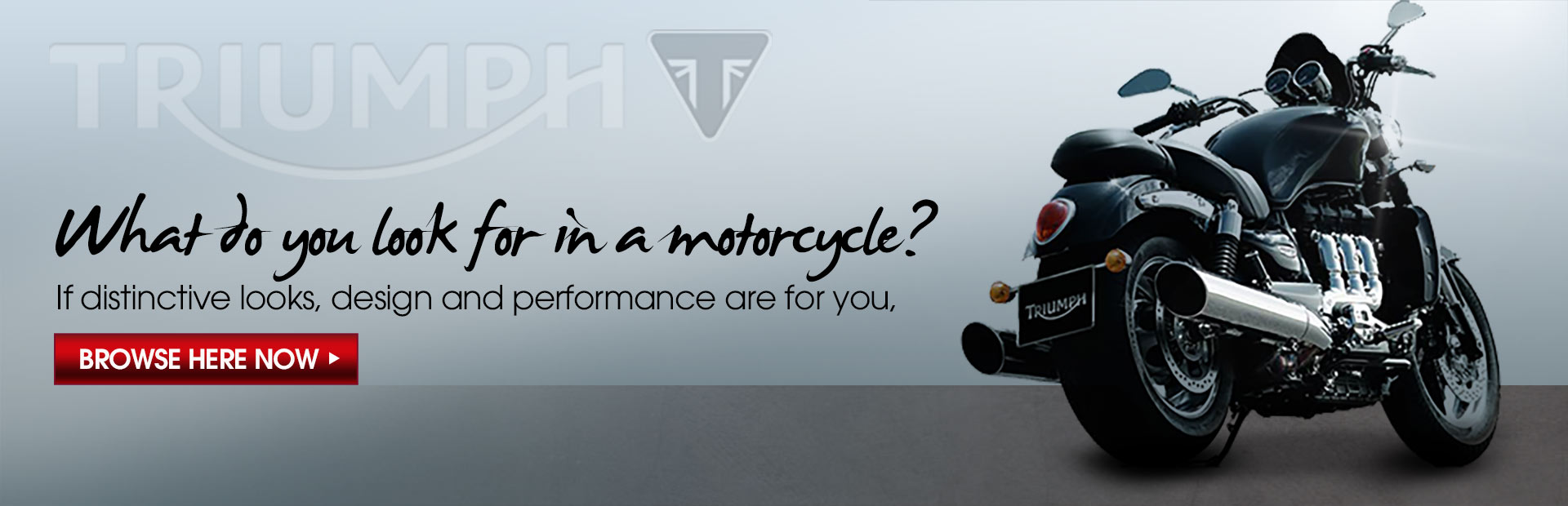 What do you look for in a motorcycle? If distinctive looks, design, and performance are for you, browse Triumph motorcycles now.