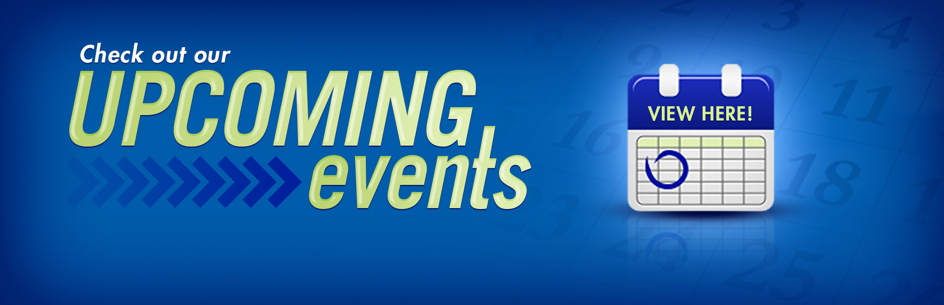 Click here to view a list of our upcoming events!