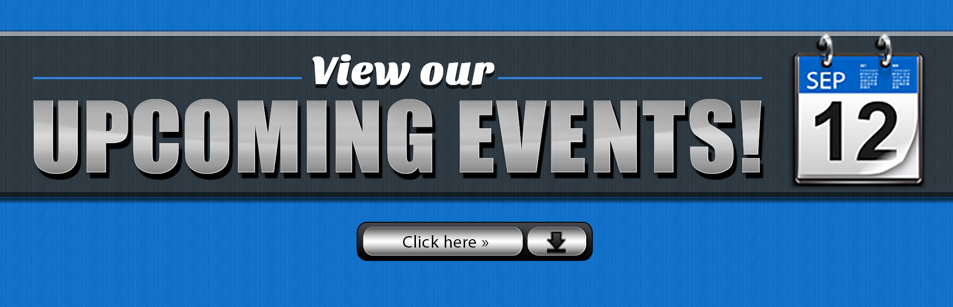 Click here to view our upcoming events!