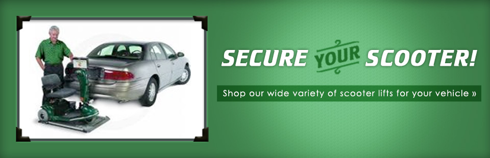 Secure your scooter! Shop our wide variety of scooter lifts for your vehicle. Click here to browse.