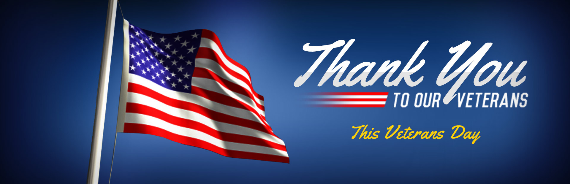 Thank you to our veterans.