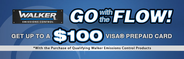 Get up to a $100 Visa® prepaid card with qualifying Walker Emissions Control product purchases.