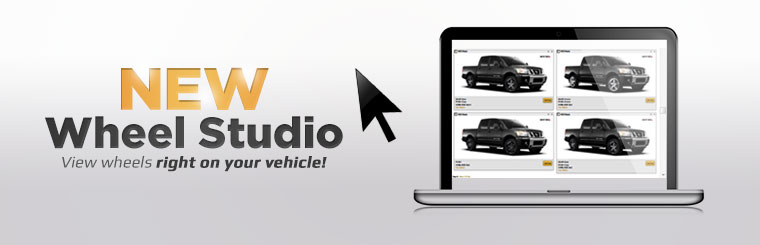 New Wheel Studio: View wheels right on your vehicle!