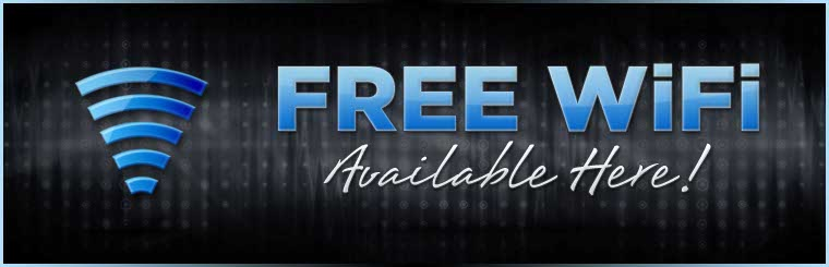 Free WiFi is available here! Contact us for information.