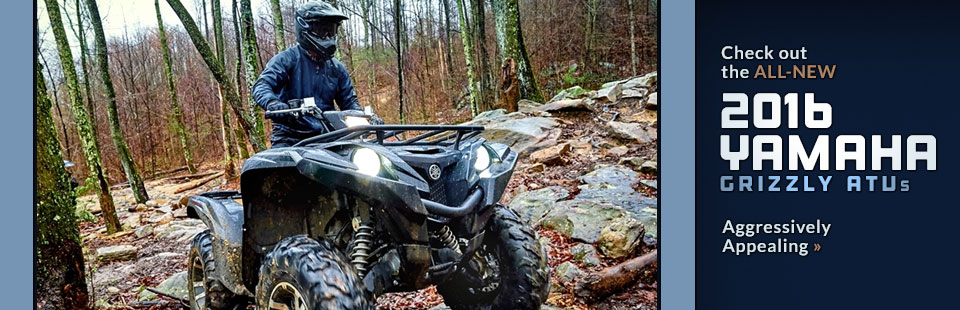 2016 Yamaha Grizzly ATVs: Click here to view the models.