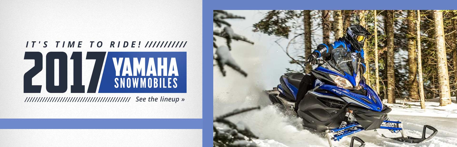 2017 Yamaha Snowmobiles: Click here to see the lineup!