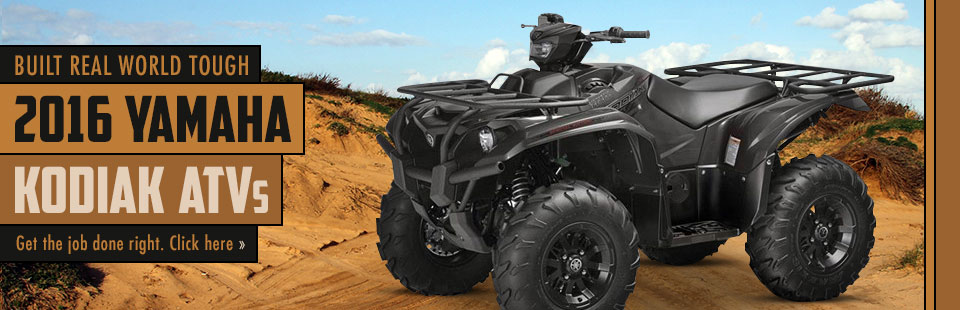 2016 Yamaha Kodiak ATVs: Click here to view the models.