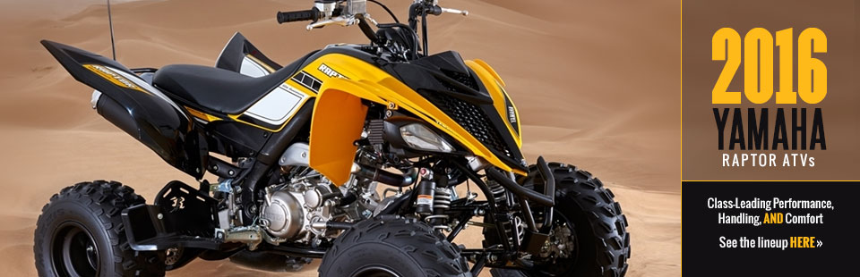 2016 Yamaha Raptor ATVs: Click here to view the models.
