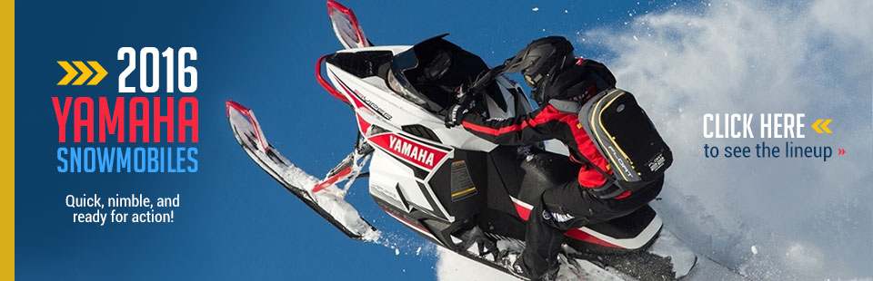 2016 Yamaha Snowmobiles: Click here to view the lineup!