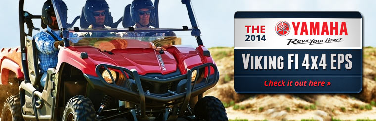Click here to check out the 2014 Yamaha Viking FI 4x4 EPS.