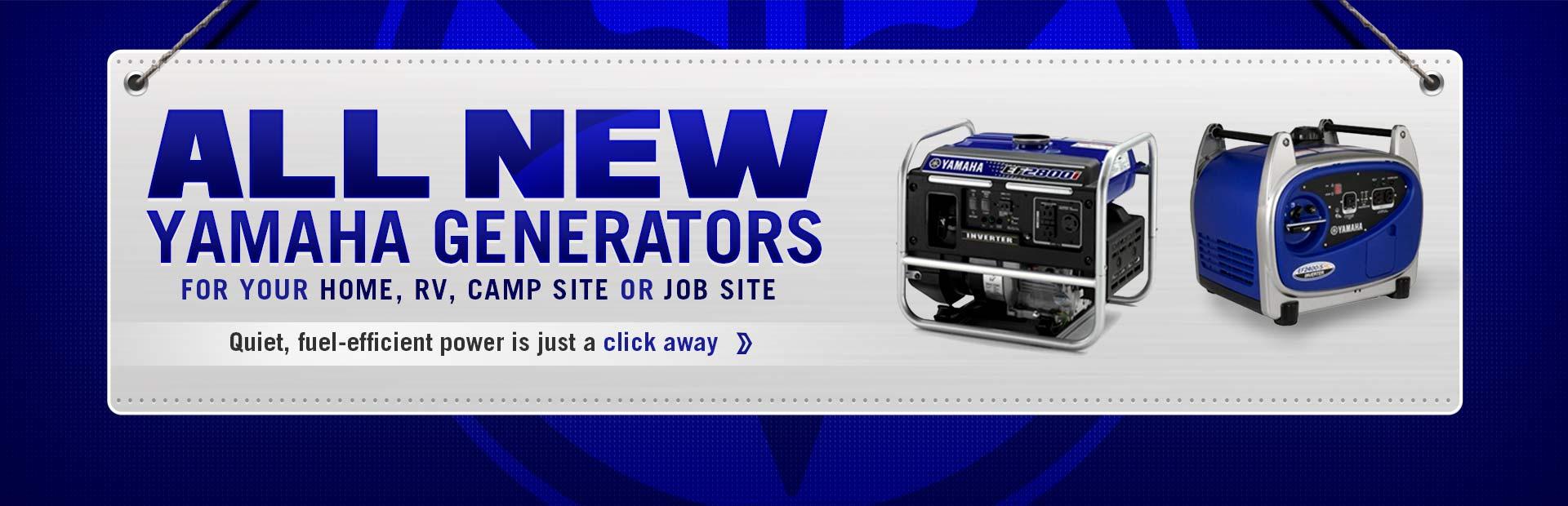 Click here to view new Yamaha generators.