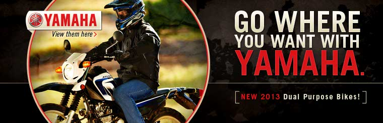 Click here to view the 2013 Yamaha dual purpose bikes.