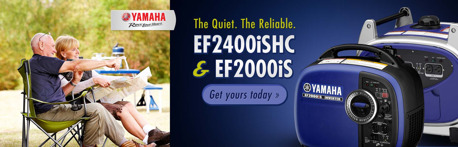Yamaha EF2400iSHC and EF2000iS Generators: Click here to view the models.