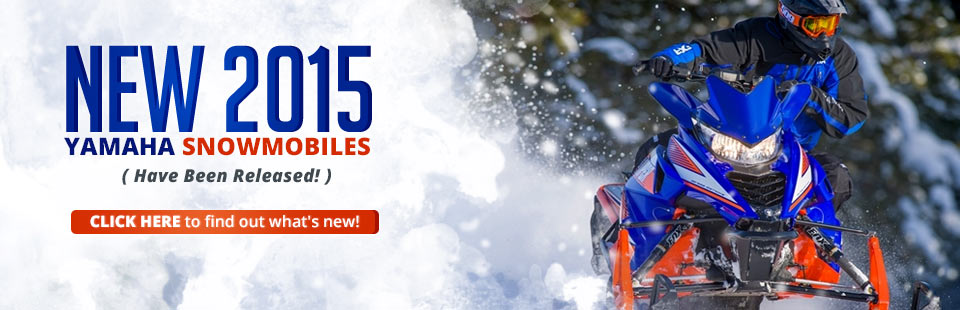Hit the trail on a new 2015 Yamaha snowmobile! Click here to check out the models.