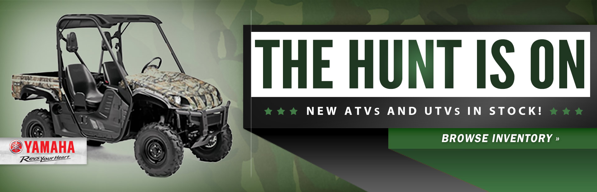 Click here to browse new ATVs and UTVs from Yamaha!