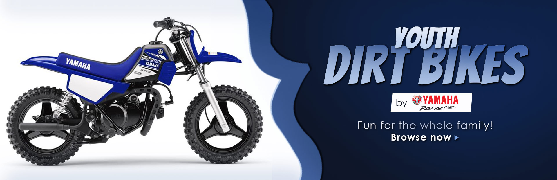Click here to browse Yamaha youth dirt bikes.