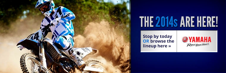 Click here to view the 2014 Yamaha dirt bikes.