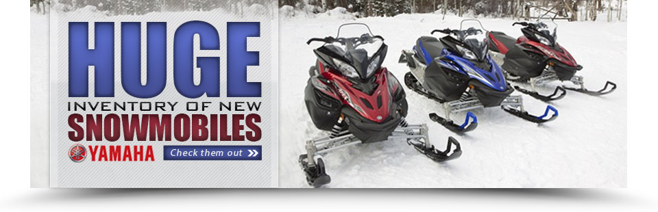Click here to check out our huge inventory of Yamaha snowmobiles!