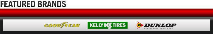We proudly carry products from Goodyear, Kelly, and Dunlop.