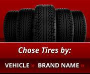 Choose Tires by: Vehicle and Brand Name.