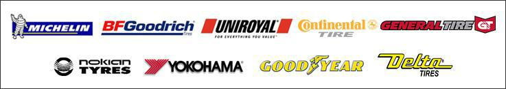 We carry products from Michelin®, BFGoodrich®, Uniroyal®, Continental, General Tire, Nokian, Yokohama, Goodyear, and Delta.