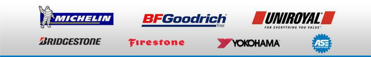 We offer products from Michelin®, BFGoodrich®, Uniroyal®, Bridgestone, Firestone and Yokohama. Our mechanics are ASE certified.