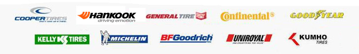 We proudly offer products from Cooper, Hankook, General, Continental, Goodyear, Kelly, Michelin®, BFGoodrich®, Uniroyal®, and Kumho.