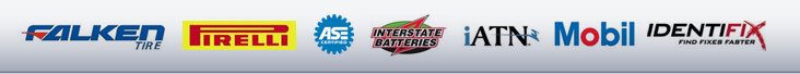 We proudly carry products from Falken, Pirelli, Interstate Batteries, iATN, MOBIL and Identifix. We are also ASE certified.