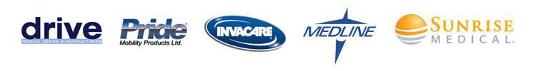 We are proud to feature products from Drive, Pride, Invacare, Medline and Sunrise!