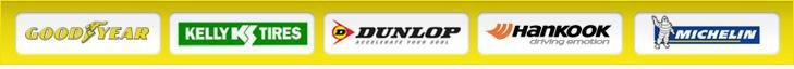 We carry products from Goodyear, Kelly, Dunlop, Hankook, and Michelin®.