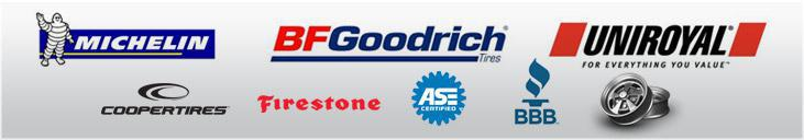 We carry products from Michelin®, BFGoodrich®, Uniroyal®, Cooper, and Firestone. Our technicians are ASE certified. We are affiliated with the BBB. We sell wheels.