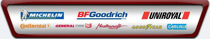 We proudly carry products from Michelin®, BFGoodrich®, Uniroyal®, Continental, General Tire, Mastercraft, Goodyear, and Carlisle.