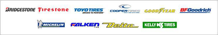 We proudly carry products from Bridgestone, Firestone, Toyo, Cooper, Goodyear, BFGoodrich®, Michelin®, Falken, Delta, and Kelly.
