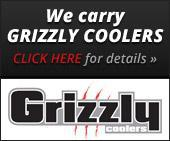 We carry Grizzly coolers - Click here for details »