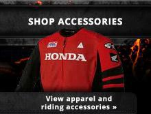 Shop Accessories: View apparel and riding accessories.