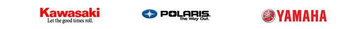 We proudly carry products from Kawasaki, Polaris, and Yamaha.