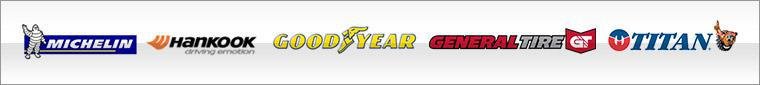 We carry products from Michelin®, Hankook, General, Goodyear, and Titan.