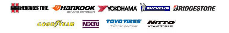 We carry products from Hercules, Hankook, Yokohama, Michelin®, Bridgestone, Goodyear, Nexen, Toyo, and Nitto.