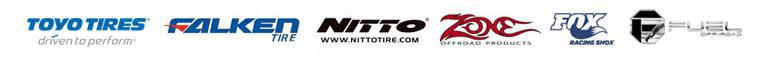 We carry products from Toyo, Falken, Nitto, Zone Offroad, Fox Shox, and Fuel Wheels.