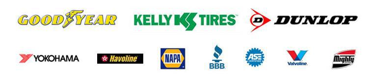 We are proud to carry Goodyear, Kelly, Dunlop, Yokohama and Havoline products. We provide NAPA, Valvoline and Mighty services. Our technicians are ASE certified and we are accredited by the BBB.