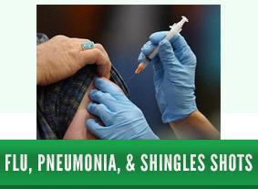 Flu, Pneumonia, & Shingles Shots