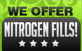 We offer nitrogen fills!