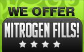We offer nitrogen fills!