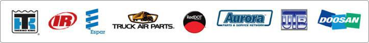 Proudly representing Thermo King, Ingersoll Rand, ESPAR, Truck Air Parts, Red Dot AC, Aurora Parts, UTB and Doosan!